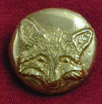 Frontal Fox Bronze Button