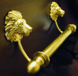 "Lion Brackets with 5/8"" Towel Rod, side view"