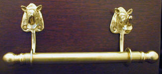 "Rhino Brackets with 5/8"" Towel Rod"