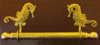 "Seahorse Brackets with 5/8"" Towel Rod"