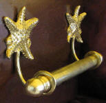 "Sea Star Brackets with 5/8"" Towel Rod, side view"