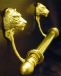 "Tiger Brackets with 5/8"" Towel Rod, side view"