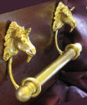 "Unicorn Brackets with 5/8"" Towel Rod, side view"