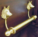 "Belgian Sheepdog Brackets with 5/8"" Towel Rod, side view"