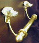 "Dalmatian Bracket with 5/8"" rod and finial, side view"