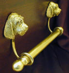 "Otterhound Brackets with 5/8"" rod and finials, side view"