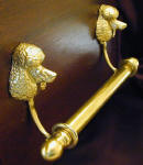 "Standard Poodle Brackets with 5/8"" rod and finials"