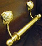 "Pug Brackets with 5/8"" Towel Rod, side view"