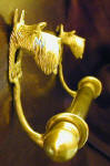 "Scottie Brackets with 5/8"" rod and finials, side view"