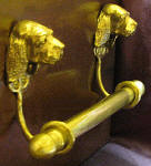 "Sussex Spaniel Brackets with 5/8"" Towel Rod, side view"