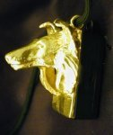 Collie (rough) Clicker Pendant, side view