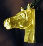 Horse Clicker Pendant, other side view