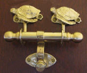 Green Turtle Duet Door Knocker