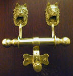 Australian Terrier Duet Door Knocker