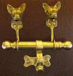 Basenji Duet Door Knocker