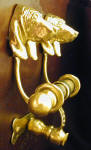 Basset Hound Duet Door Knocker, side view