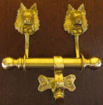 Belgian Sheepdog Duet Door Knocker
