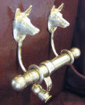 Belgian Malinois Duet Door Knocker, side view