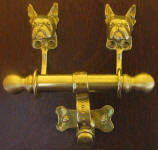 Boston Terrier Duet Door Knocker