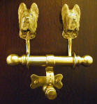 Briard Duet Door Knocker