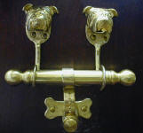 English Bulldog Duet Door Knocker