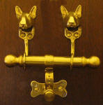 Bull Terrier Duet Door Knocker