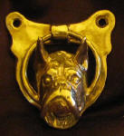 Boxer Door Knocker (cropped ears), front view
