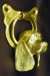 American Cocker Spaniel Door Knocker, side view