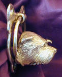 Glen of Imaal Terrier Small Door Knocker, side view