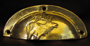 Bull Elk Horizontal Drawer Pull
