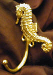Seahorse J Hook, left facing, side view