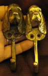 2 Sussex Spaniel J Hook, one with patina