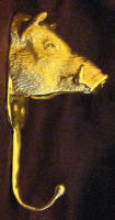 Large Boar's Head Hook. side view