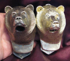 2 Bear Large Door Knockers, darker one with patina