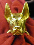 Doberman, cropped, napkin ring