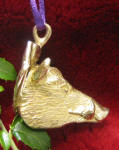 Wild Boar Ornament, side view