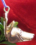 Basenji Ornament, side view