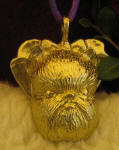 Brussels Griffon (cropped ears) Ornament