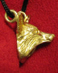 Fox Pendant, side view