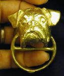 Boxer Scarf Ring (natural ears), in hand