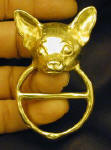 Chihuahua Scarf Ring, in hand