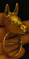 Donkey Scarf Ring, 3/4 view
