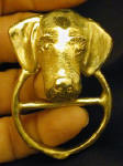 Wire Haired Dachshund Scarf Ring, in hand