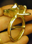 Italian Greyhound Scarf Ring, 3/4 back view