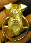Irish Terrier Scarf Ring, in hand