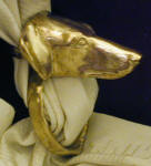 Saluki (smooth) Scarf Ring, side view
