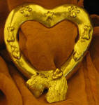 Airedale Terrier Heart Scarf Ring