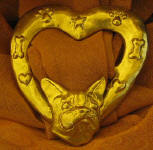 Boston Terrier Heart Scarf Ring