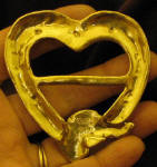 Greyhound Heart Scarf Ring, back view
