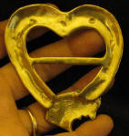 Irish Wolfhound Heart Scarf Ring, back view
